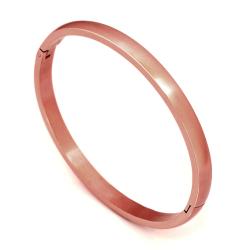 Armreif mattiert - oval 5 mm PVD-Rosegold