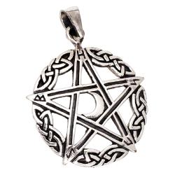 925 Sterling Silberanhänger - Pentagramm mit Sichel