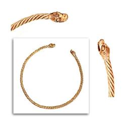 Bronze Halsreif für Frauen Torques Drachen