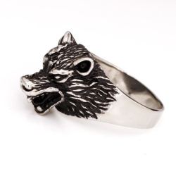 Edelstahlring/Wolf