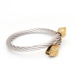 Edelstahlarmreif mit Schlangenkopf Armband: Stahl - Kopf:...