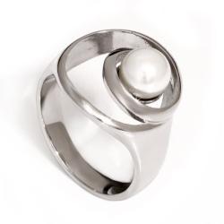 Edelstahlring - Perle