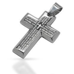 """Edelstahlanhänger - Kreuz """"Yimir"""" mit..."""