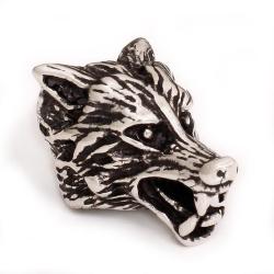 925 Sterling Silber Bartperle - Wolf
