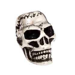 925 Sterling Silber Bartperle - Totenkopf