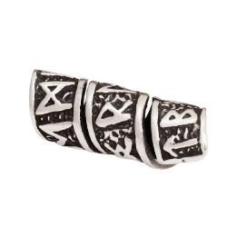 925 Sterling Silber Bartperle - Futhark/ Runenreihe