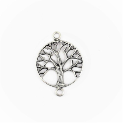 Silberanhänger für Armband / Kette - Lebensbaum