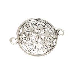 Silberanhänger für Armband / Kette - Blume des...