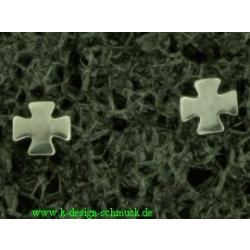 Edelstahlohrstecker - Eisernes Kreuz