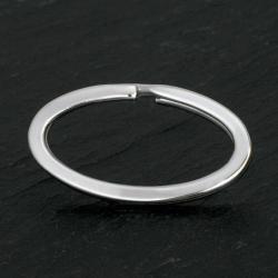 Edelstahl - Schlüsselring oval 38 x 21mm Stahlfarbe