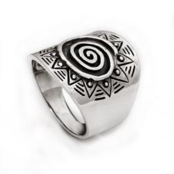 925 Sterling Silberring - Spirale Sonne