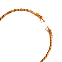 Bronze Halsreif für Männer Torques Drache