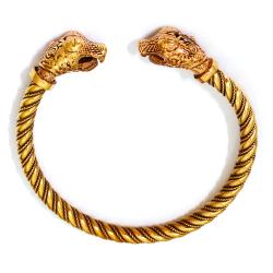 Bronze Armreif für Frauen Drache