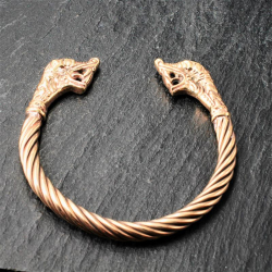 Bronze Armreif für Frauen Wolf