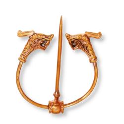 Bronze Fibel Drache