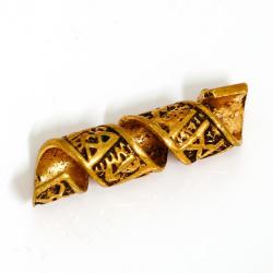 Bronze Bartperle / Bartspirale Runen