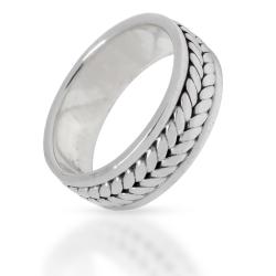 925 Sterling Silberring - Blätterranke Ähren