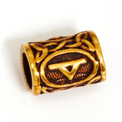 Bronze Bartperle Rune Thorn
