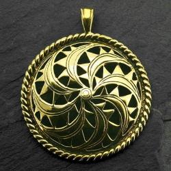 Bronzeanhänger - Altkeltische Sonnenrune