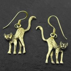 Bronzeohrringe - Katzen