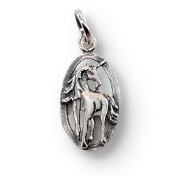 925 Sterling Silberanhänger - Einhorn Bijou