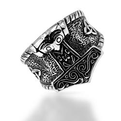 Edelstahlring/Thorshammer/Keltischer Knoten