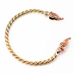 Midgardschlange Armreif aus Bronze