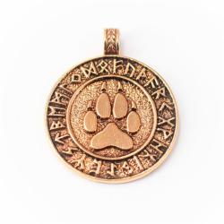 Barenklaue im Runenkreis - Bronzeamulett