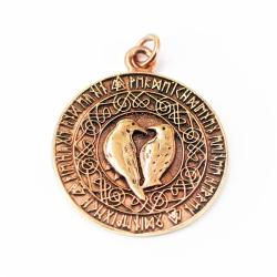 Bronze Anhänger mit Odins Raben