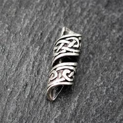 925 Sterling Silber Bartperle - Keltischer Knoten