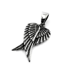 Edelstahlanhänger - Flügel
