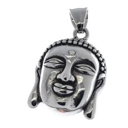 Edelstahlanhänger - Buddhakopf
