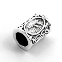 925 Sterling Silber Bartperle - Futhark FEHU