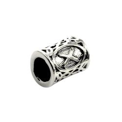 925 Sterling Silber Bartperle - Futhark GEBO