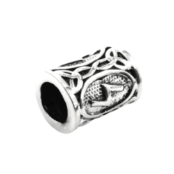925 Sterling Silber Bartperle - Futhark SOWILO