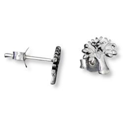 Silberohrstecker Baum keltischer Knoten