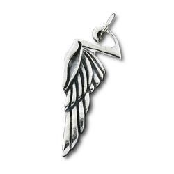 925 Sterling Silberanhänger - Flügel / Feder