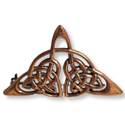 Bronze Brosche - Triquetra
