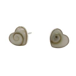 Silberohrschmuck - Shivas Auge in Herzform