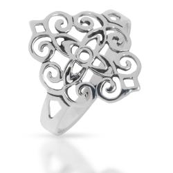 925 Sterling Silberring - Blumenstern