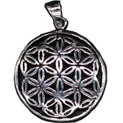 925 Sterling Silberanhänger - Blume des Lebens...