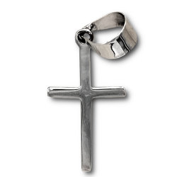 925 Sterling Silberanhänger - Kreuz