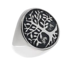 Edelstahlring/Lebensbaum