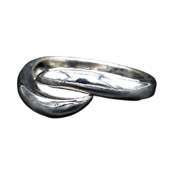 925 Sterling Silberring - Dual Silver