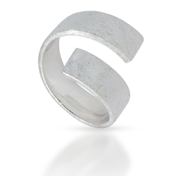 925 Sterling Silberring - Frost Silver