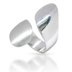 925 Sterling Silberring - Silver Fang - Mattiert und Poliert