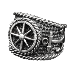 """925 Sterling Silver Ring - Compass """"Nordholm"""""""