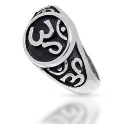 925 Sterling Silberring - Zeichen des Om