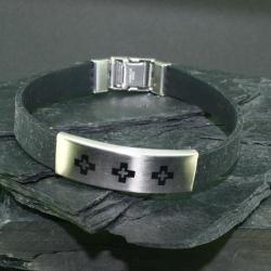 Vinylarmband - Drei Kreuze