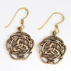 Bronzeohrringe Keltischer Runknoten